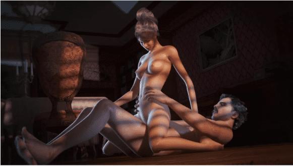 Escobar y Valeria tienen sexo haciendo la vaquera invertida