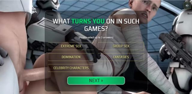 Star Whores, parodia de star Wars y juegos porno