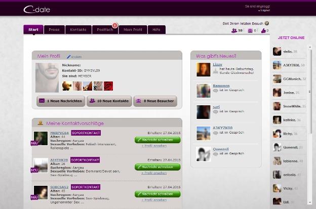 Vista de un perfil desde la PC