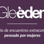 Logo de Gleeden. Fondo morado y letras blancas.
