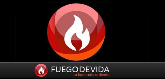 Logo de fuego de vida.