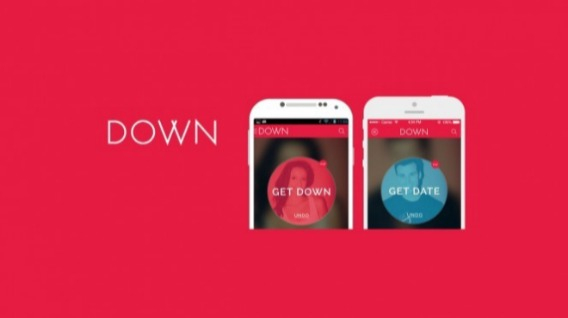 Logo de Down, aplicaciones para tener sexo.