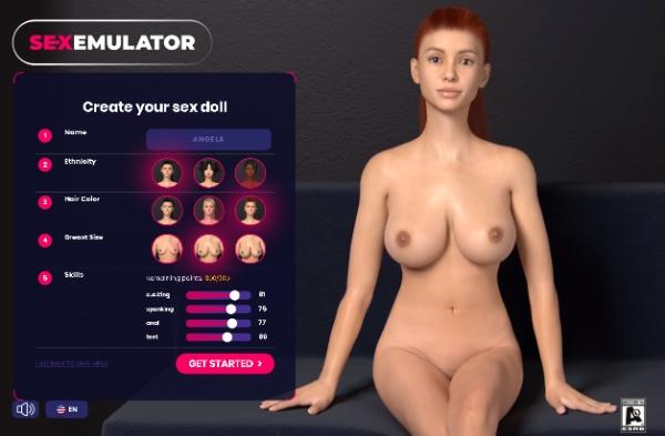 Creando a chica en SexEmulator